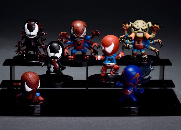7 шт. чудо супергерой удивительный человек паук / питер паркер яд супер милый пвх рисунок игрушки без тары