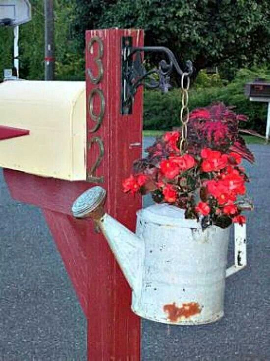Try this soon....Mailbox decor