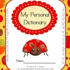 My Personal Dictionary (Ladybug Theme) for Students  #classroom #elementary #teach #education: Students Classroom