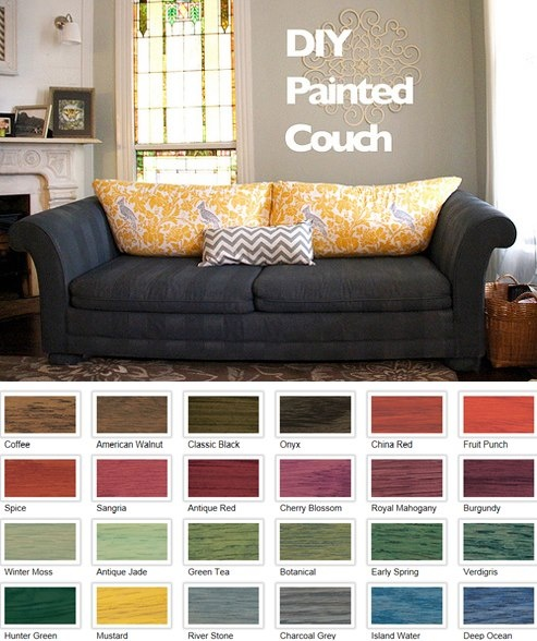 Grosgrain Wood Stained Fabric Sofa Yes It Can Be Done