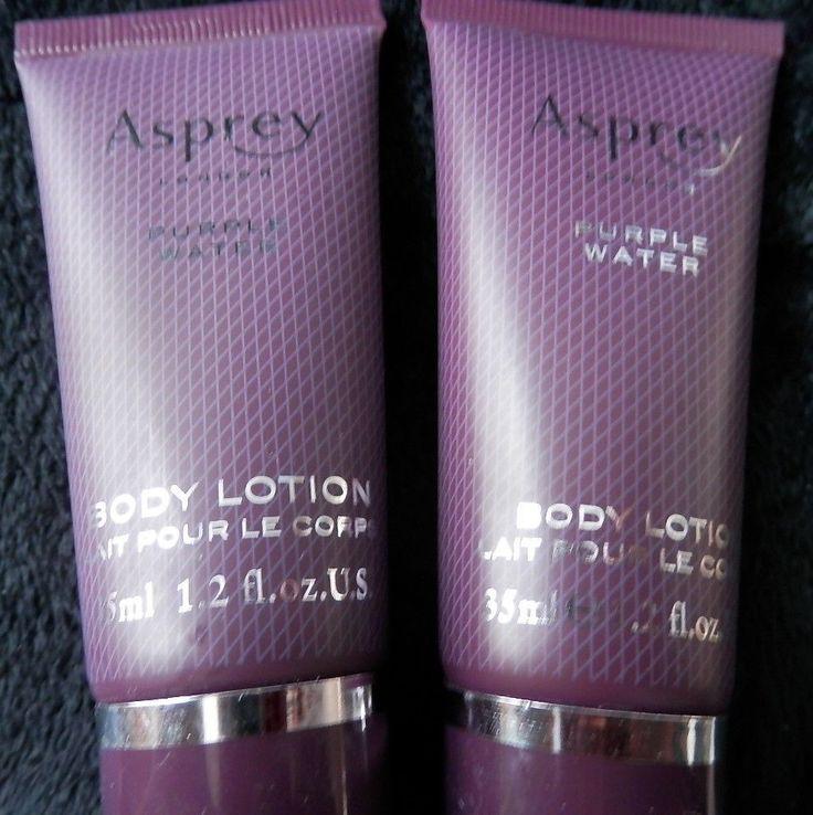 Hurry Asprey Of London Purple Water Body Lotion Set Of