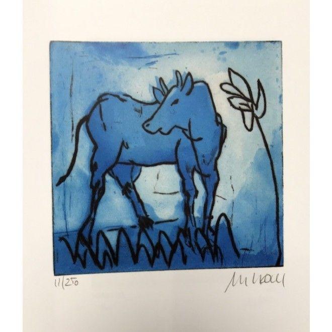 Armin Mueller-Stahl | Blaue Kuh mit Blume – Galerie Hunold