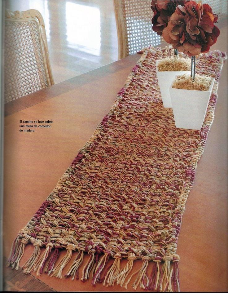 Puntadas con amor: Camino de mesa en telar