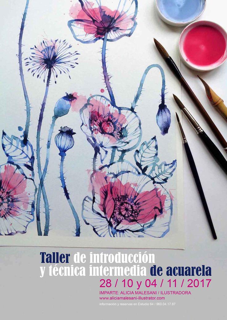 TALLER DE ACUARELA en Estudio64 Valencia   https://www.estudio64.es/talleres/taller-de-acuarela/