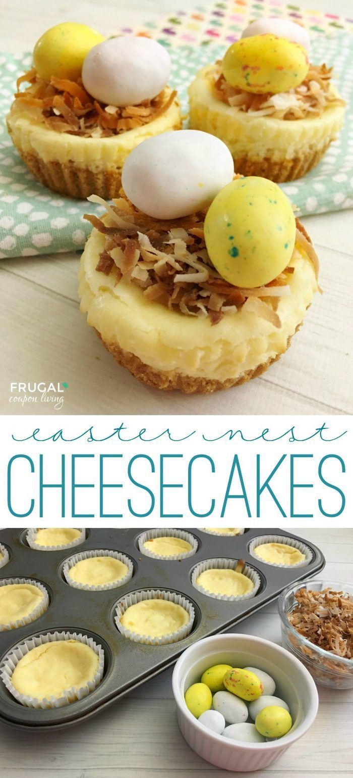 These mini cheesecakes are so delicious and make the most adorable Easter Food C...
