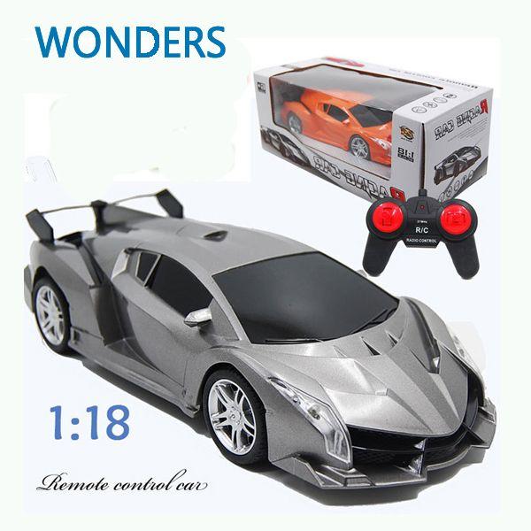 Nueva llegada! Super Coche de Carreras Rc Radio Speed Control Remoto Coche Deportivo 1:18 Motor Kid juguete de Regalo de Navidad