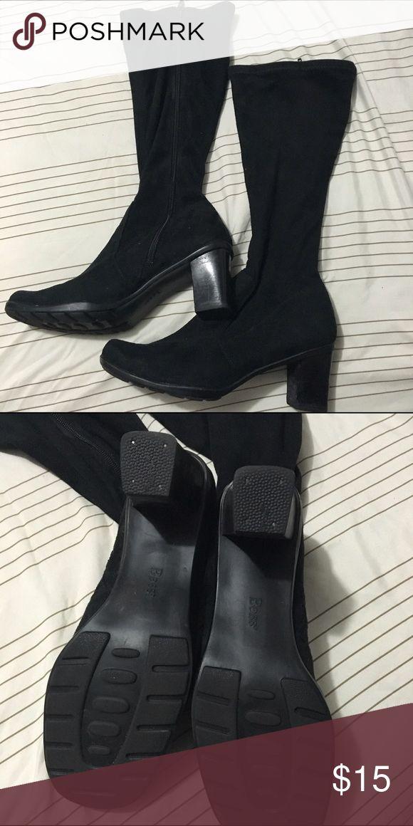 Black winter boots Bass mid leg zip up boots. Bass Shoes Winter & Rain Boots