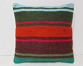 decorative pillow sofa pillow cover kilim pillow kilim rug pillow bohemian style geometric pillow case western pillow cover red pillow 28115