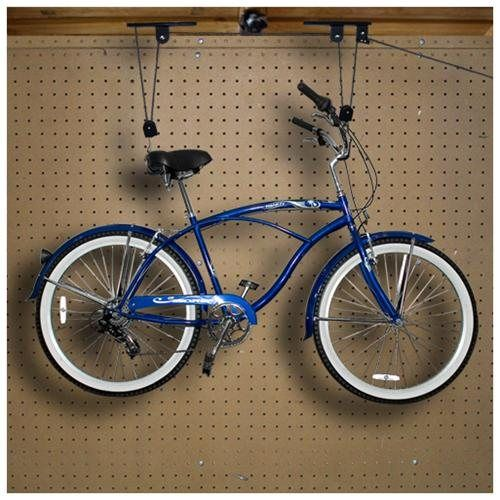 Bike Lift Hanger Hoist Ceiling Garage Bicycle Puller Mount Storage Closet