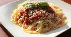 Fabulosa receta para Espagueti a la Boloñesa o Bolognesa.