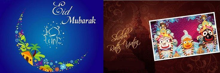 #Eid Mubarak and Subho #Rathyatra to those who are celebrating.