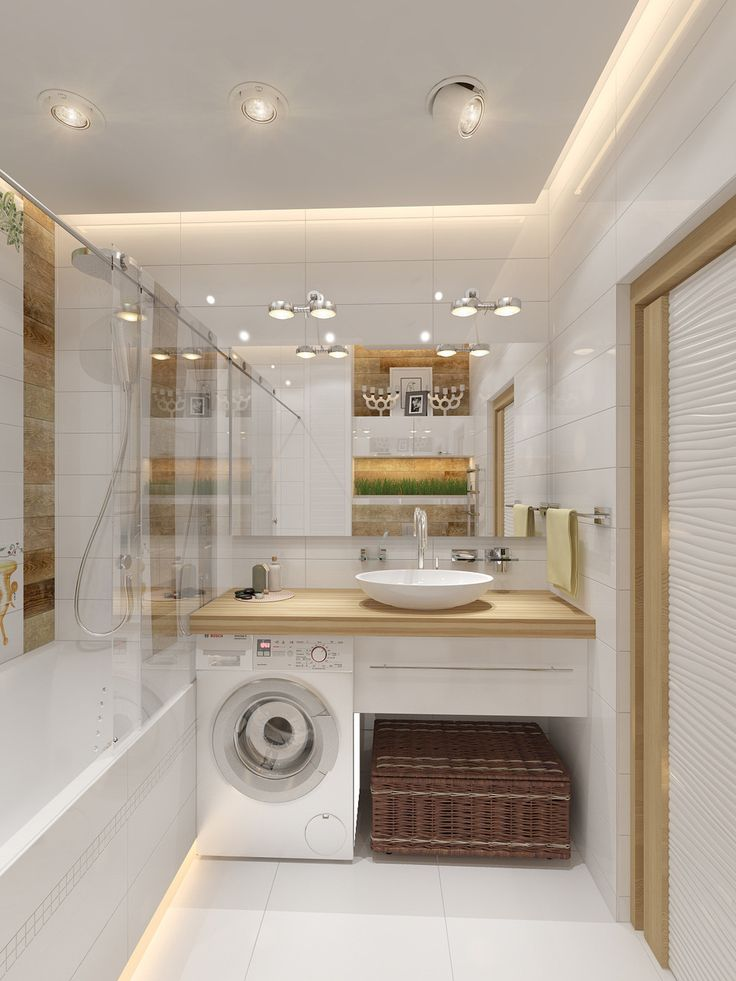 Фотография: Ванная в стиле Современный, Малогабаритная квартира, Квартира, Хранение, Мебель и свет, Дома и квартиры, Проект недели, студия недели 2014 – фото на InMyRoom.ru
