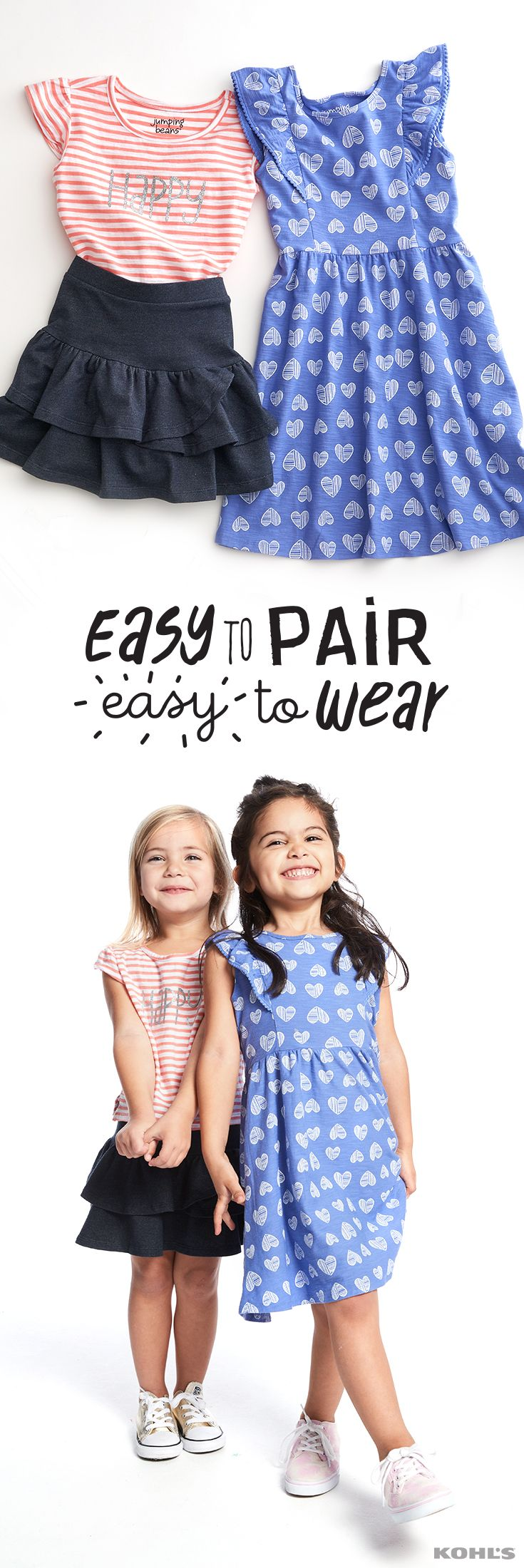 It's always a good day to play. And with dresses and skirts that are as perfect for playing as these (and at perfectly great prices), your girl will always look and feel good. Get easy to pair, easy to wear Jumping Beans clothes for kids at Kohl's.