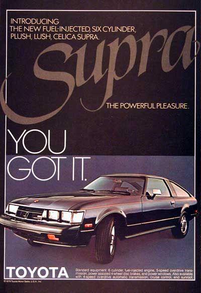 1979 Toyota Supra Ad