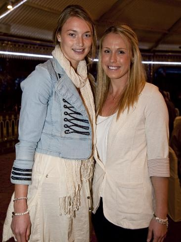 Amy Steel and Kimberlee Green looking stylish on their day off from the court.