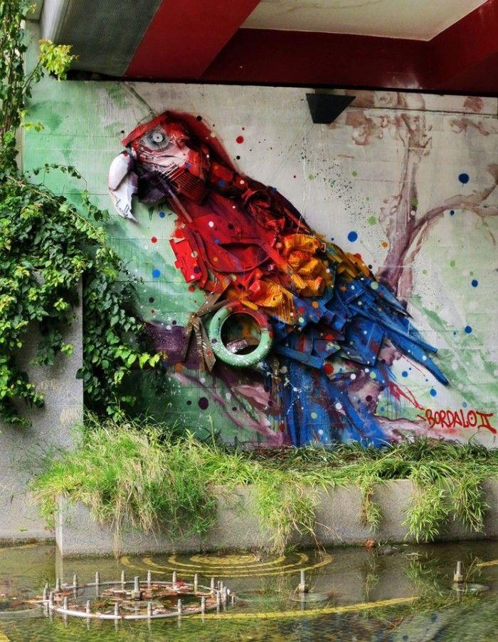 Le street art géant et recyclé de Bordalo II (Segundo) - Lisbonne (31)