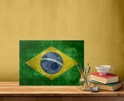 brazil brazilian flag flags vintage retro soccer football south america american 2014 Vintage