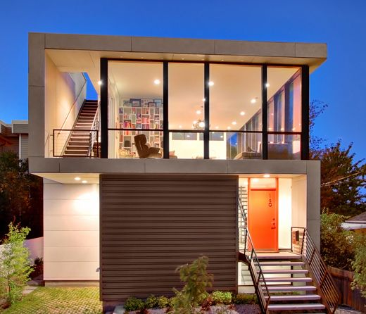25 best ideas about modern tiny house on pinterest mini for Small urban house plans