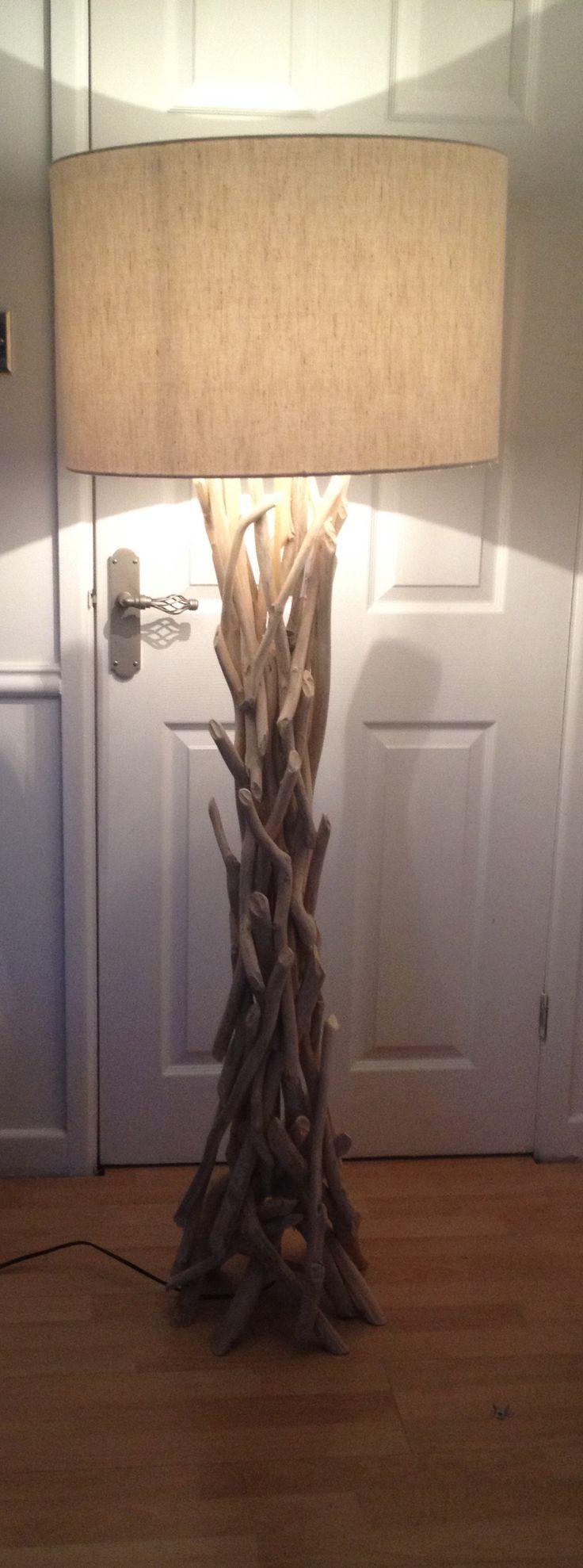 Driftwood standard lamp