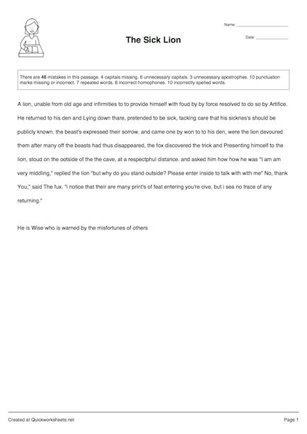 Proofreaders marks handout