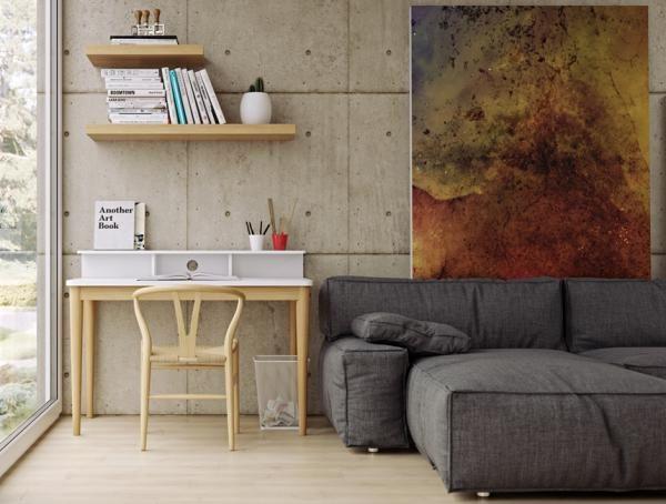 Xira, modern study desk in white and oak veneer in a retro style design #home #interior #contemporaryfurniture #furniture #modernfurniture #design #temahome