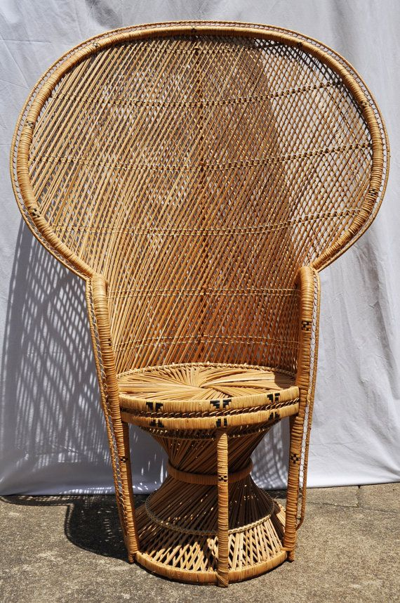 Vintage Fan Back Peacock Wicker Chair Hollywood Regency by Aligras - 18 Best Antique Wicker Furniture Images On Pinterest Wicker