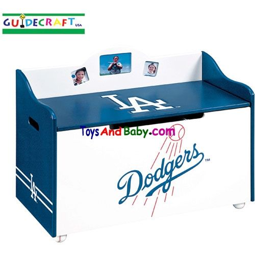 Guidecraft Los Angeles Dodgers Toy Box G11020 Officially Licensed Major  League Baseball Furniture. These Hand