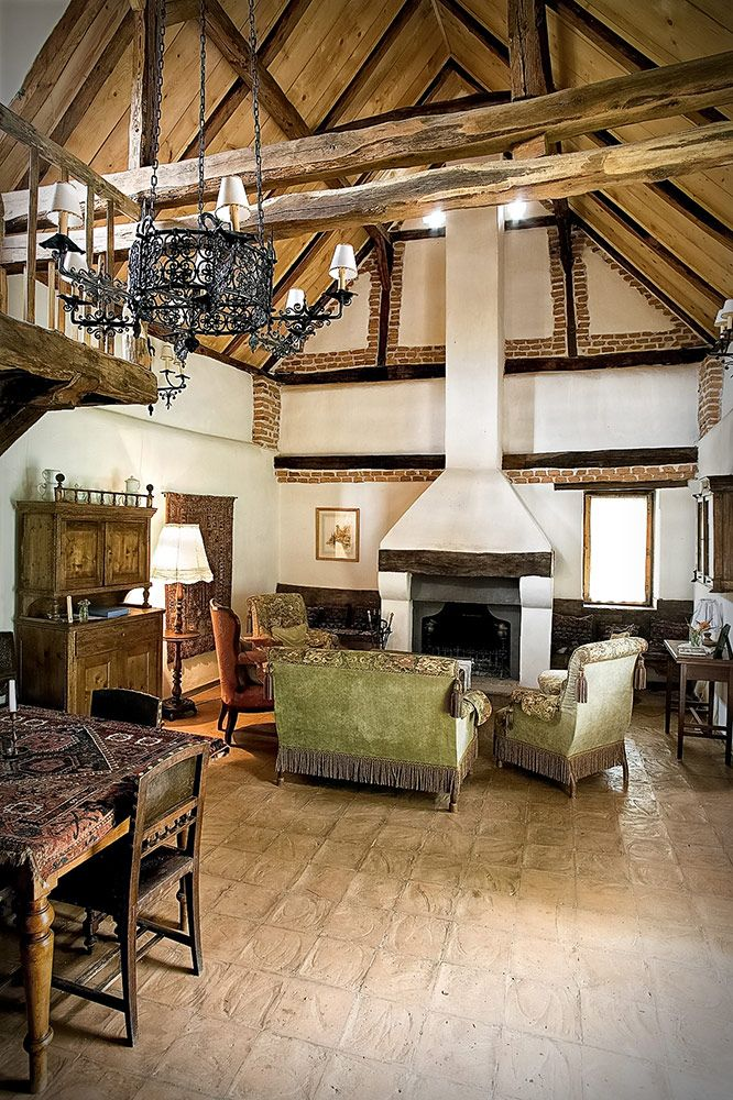 Drawing room in the old stables, Zalan, Transylvania