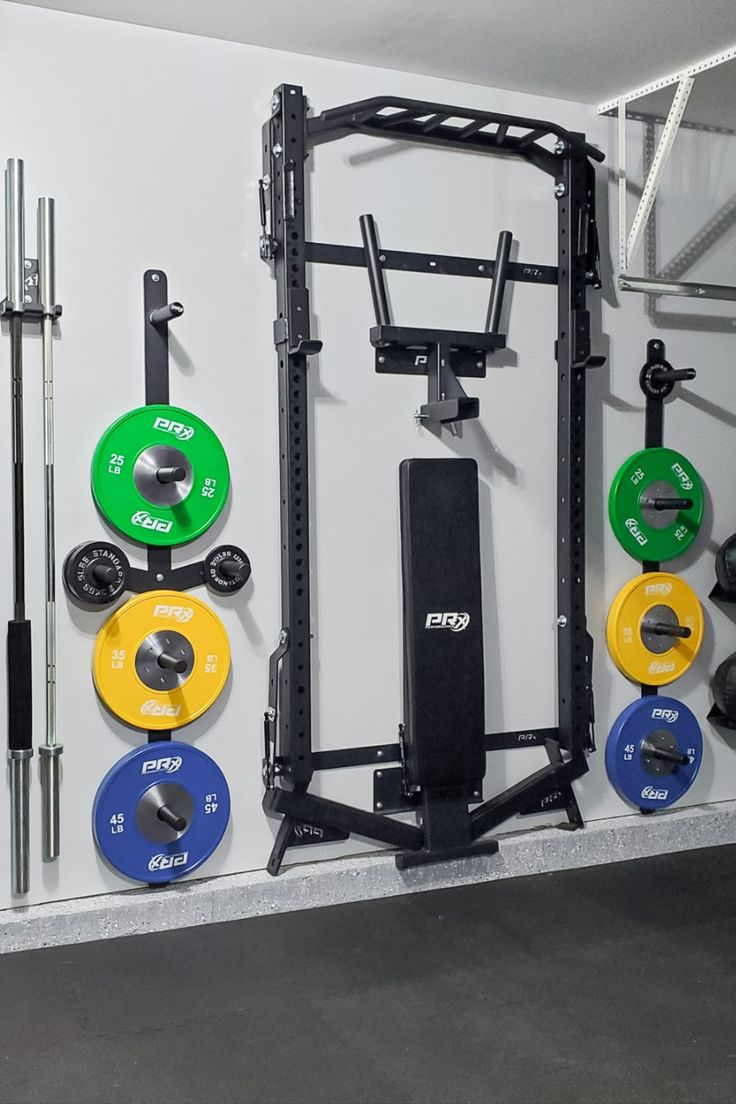 A 10 Second Commute To Your Home Gym Massive Gainz In 2021 Workout Room Home Diy Home Gym Gym Room At Home
