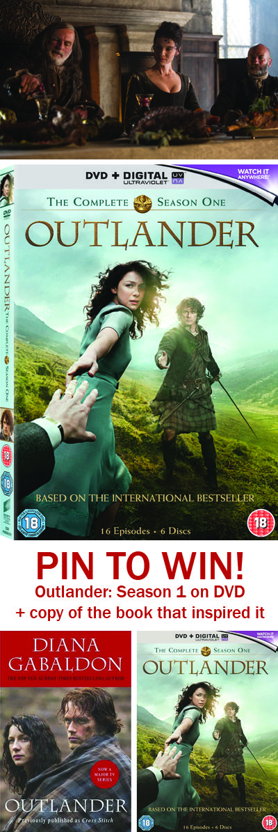 PIN TO WIN!  **REPIN FROM THE KAVEY EATS OUTLANDER INSPIRATION BOARD TO BE INCLUDED: https://www.pinterest.com/KaveyEats/outlander-inspiration/ **  To celebrate the release of Outlander Season 1 on DVD + Blu-ray, we're giving away Outlander: Season 1 on DVD plus a copy of the book that inspired the show. Only one entry per person. Closes Friday November 27th 2015. Giveaway offered by Sony Pics At Home. Winner will be picked randomly from all valid entries after the closing date.