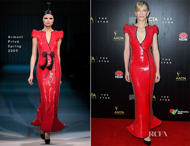 Only Cate.  Yowza...she is rocking this.  It's not for everyone, but it's for her.  Armani prive 2009