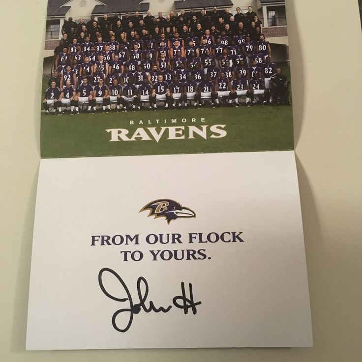 Christmas card from John Harbaugh Baltimore Ravens 2016