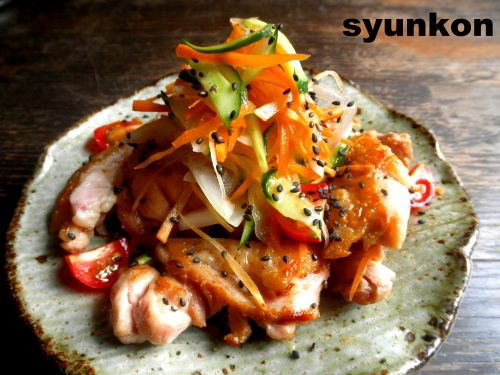 【簡単!!おつまみ】鶏肉と野菜のさっぱり南蛮だれ の画像|山本ゆりオフィシャルブログ「含み笑いのカフェごはん『syunkon』」Powered by Ameba