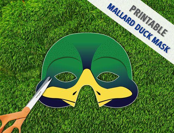 Duck+Mask++Mallard+Duck+Mask++Photo+Booth+Prop+
