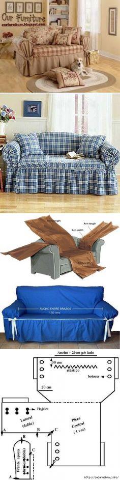 Чехлы на диван, кресло. Идеи, выкройки...♥ Deniz ♥
