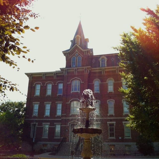 University Hall, Purdue University. Oldest building on campus across from John Purdue's grave.