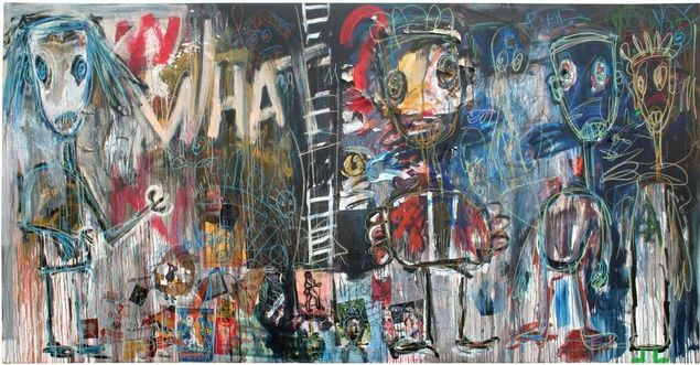 Aboudia, WHAT?, 2011.