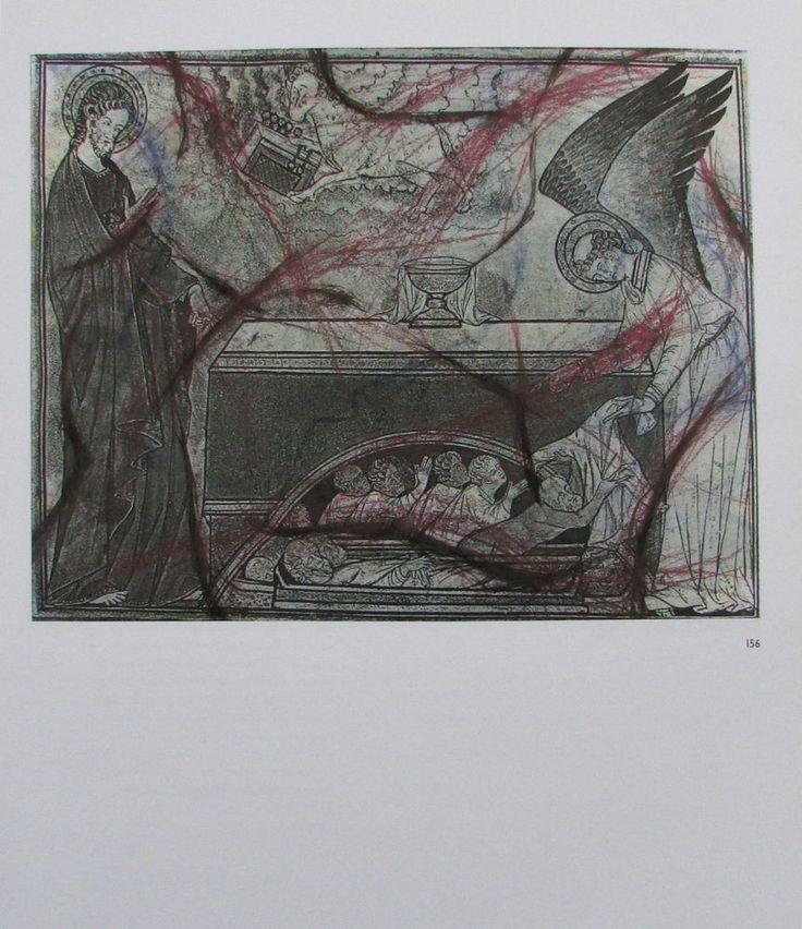 Arnulf Rainer DAS LAMM ÖFFNET DAS FÜNFTE SIEGEL Übermalung Kunstdruck art print | eBay
