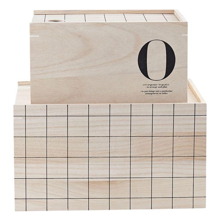 O storage opbevaringsæske, 2-pak i gruppen Indretningsdetaljer / Opbevaring / Bokse & Æsker hos ROOM21.dk (133015)