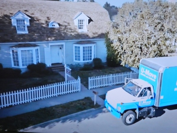 TV Houses in Commercials -from Lowe's TV commercial -grey house before Lowe's paint job