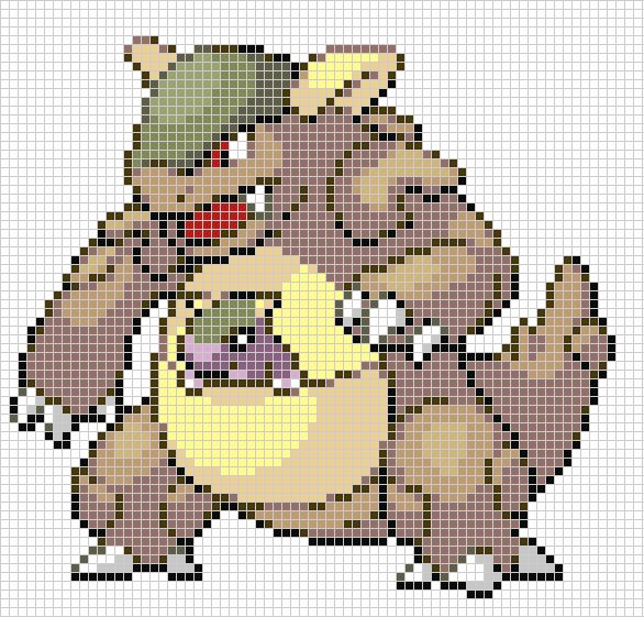 Art Pixel Grids Pokemon Minecraft