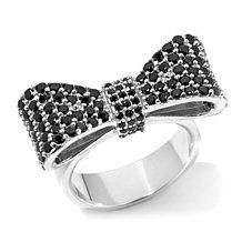 King Baby Jewelry 1.56ct Pavé CZ Baby Bow Ring