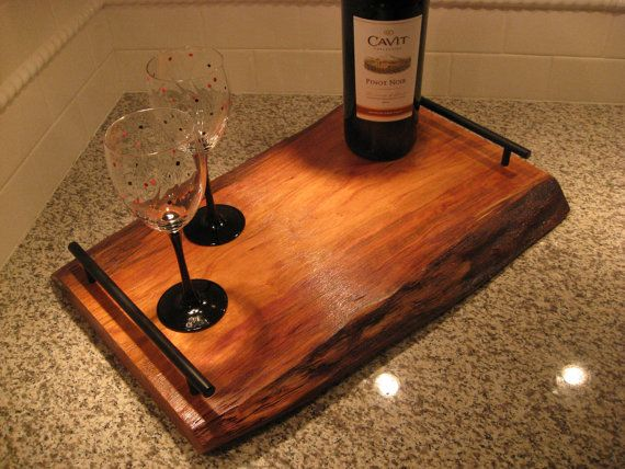 Live edge cherry serving tray trays serving trays and i for Live edge wood projects