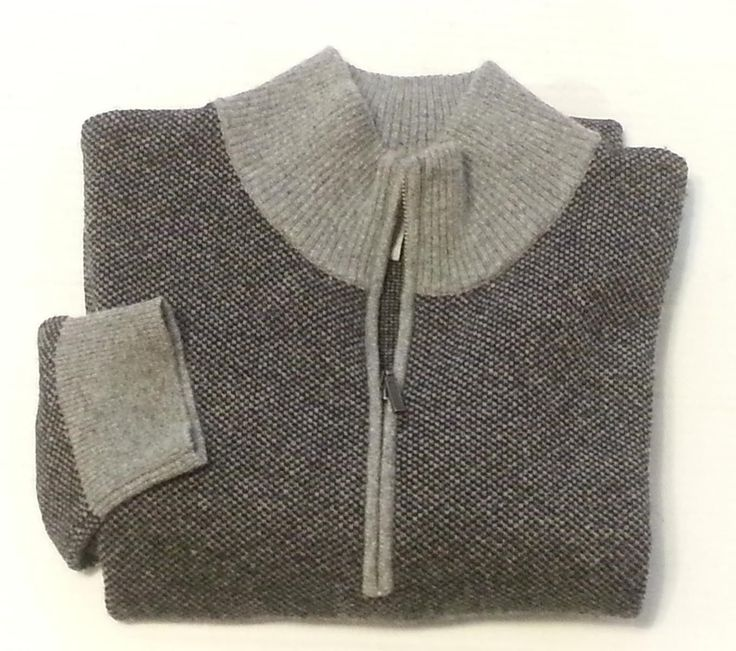 #ebay sale fashion style New GIASONE 1/2 Zip 100% 2 ply cashmere sweater Men Size M Gray withing our EBAY store at  http://stores.ebay.com/esquirestore