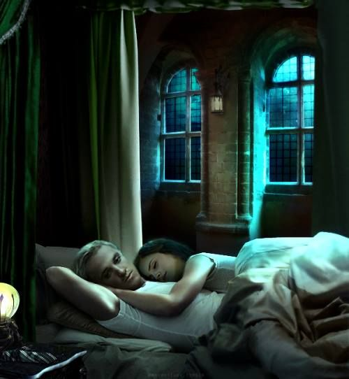 Dramione fic clichés: 'Hermione sneaking into the Slytherin dormitory and staying the night'