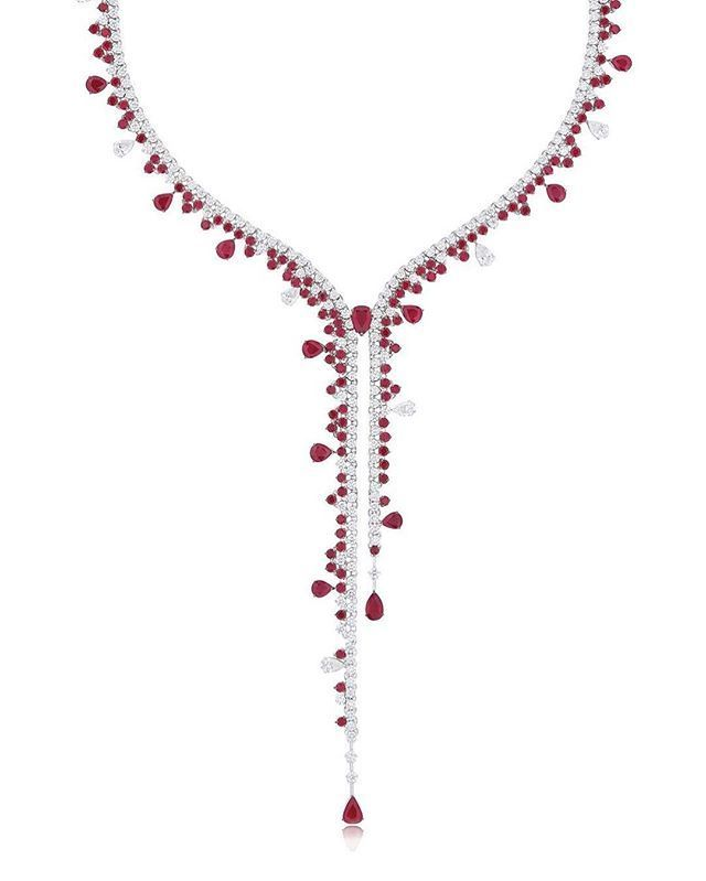 Stenzhorn. Venus. Rubies and diamonds necklace.