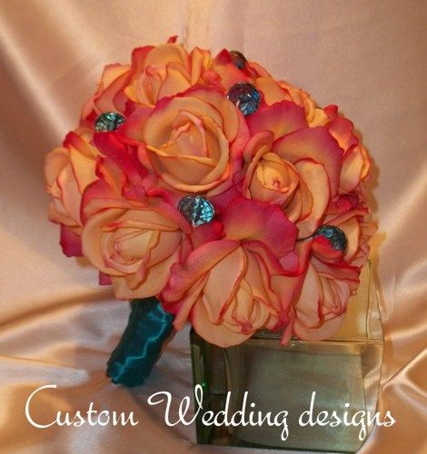 coral purple teal wedding colors - Google Search