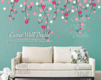 cherry blossom wall decal birds nursery wall decals tree by cuma