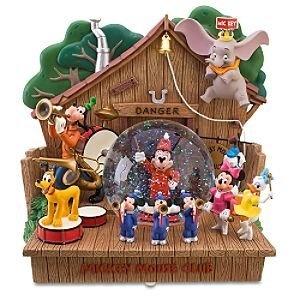Disney 55th Anniversary Musical Mickey Mouse Club Snowglobe