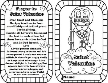 My catholic mini saint book saint valentine saint for St valentine coloring pages catholic